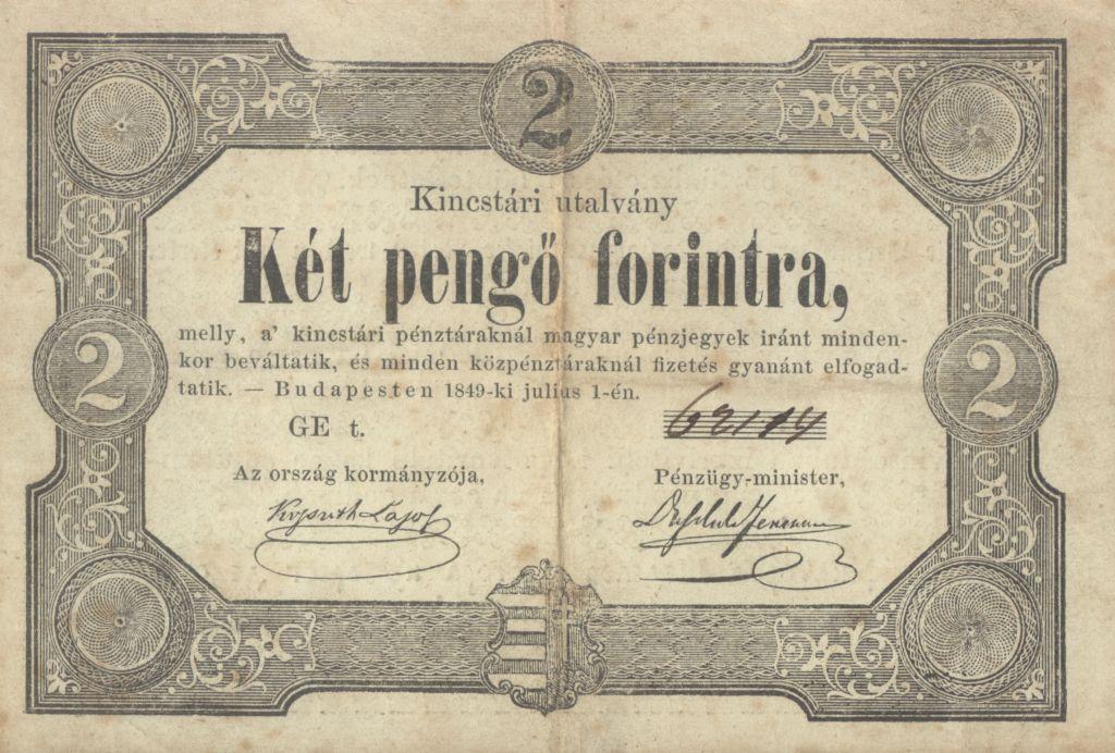 Kincstári utalvány 1849