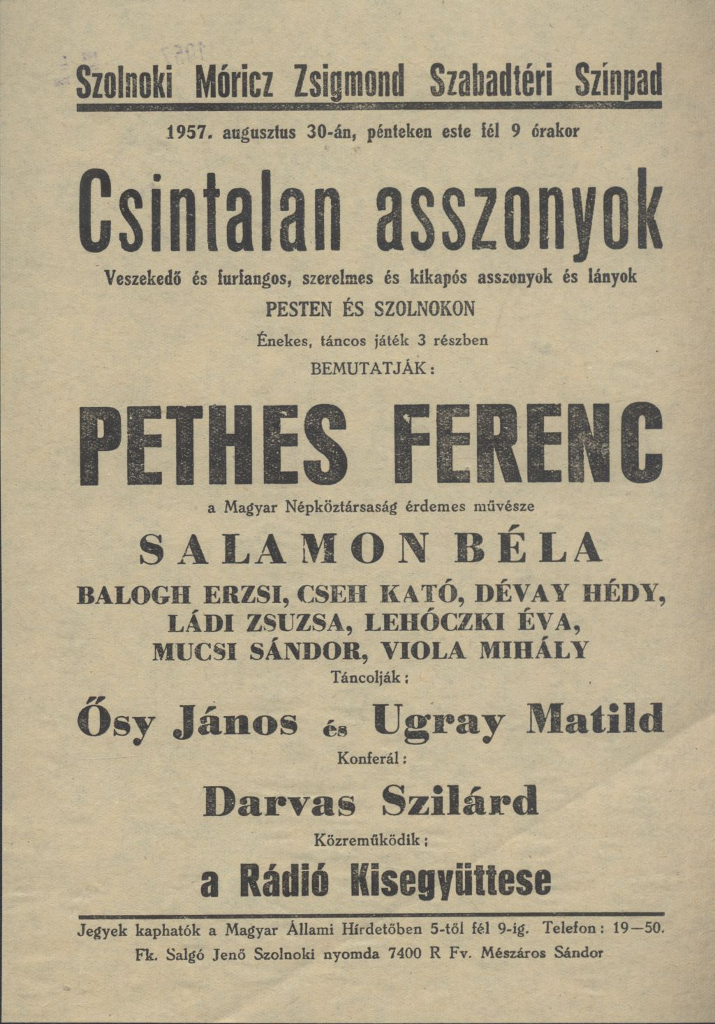 Móricz Zsigmond Szabadtéri Színpad előadása