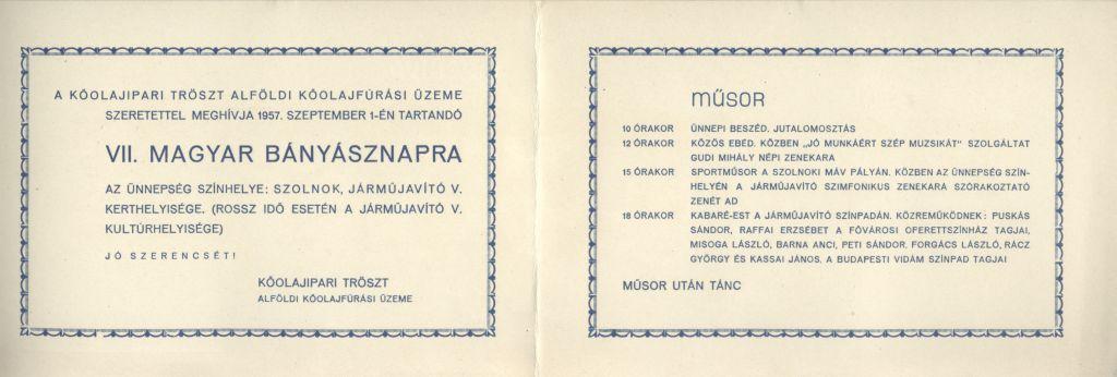 Meghívó a VII. Magyar Bányásznapra