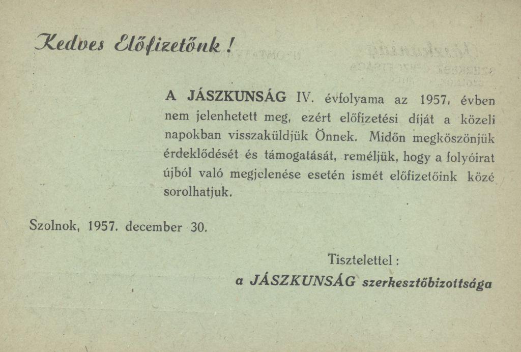 """""""Jászkunság"""" folyóirat"""