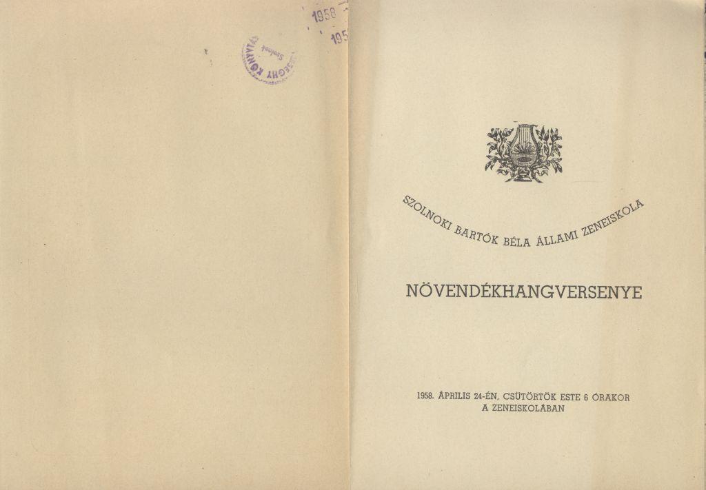 Szolnoki Bartók Béla Állami Zeneiskola növendékhangversenye