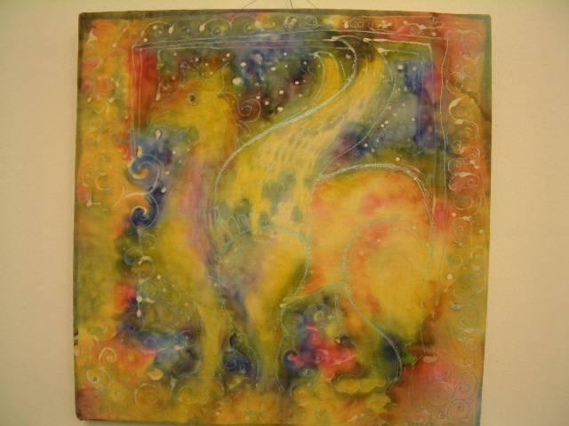Köteles Léna egyik textilmunkájának fotója