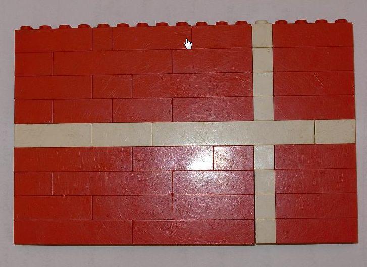 Legoból készült dán zászló