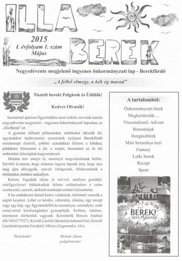 Illa Berek címlapja