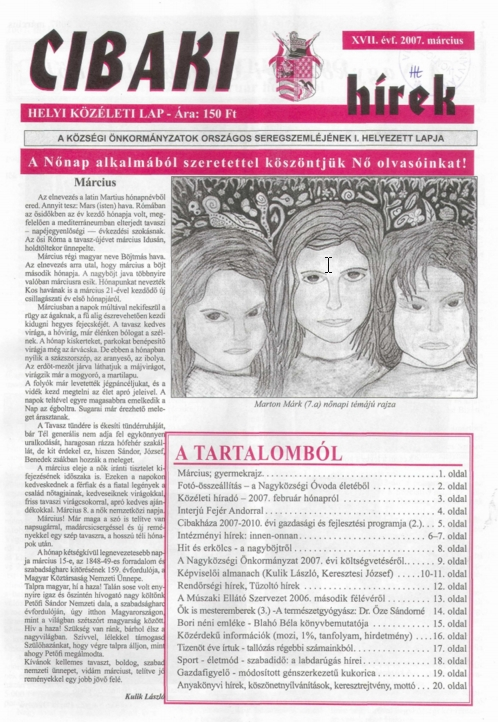 Cibaki hírek címlapja
