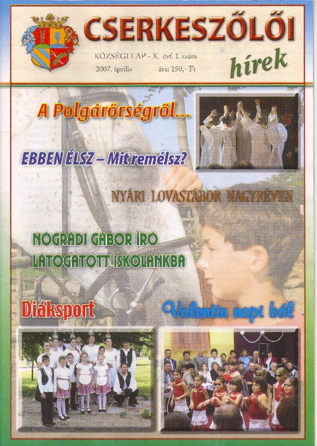 Cserkeszőlői hírek címlapja