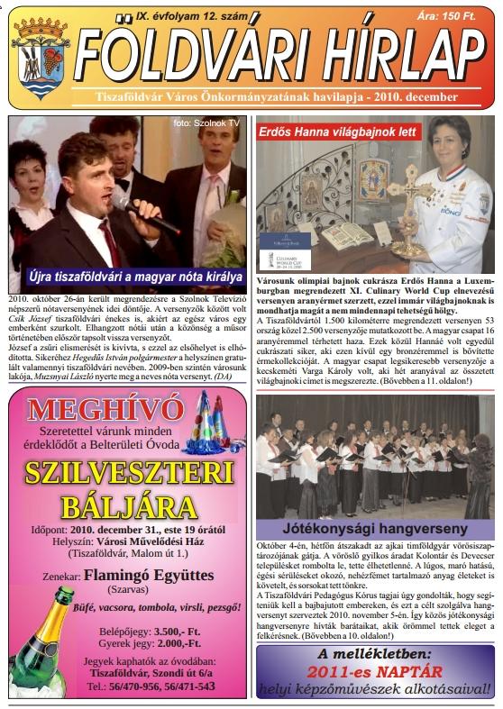 Földvári hírek 2010