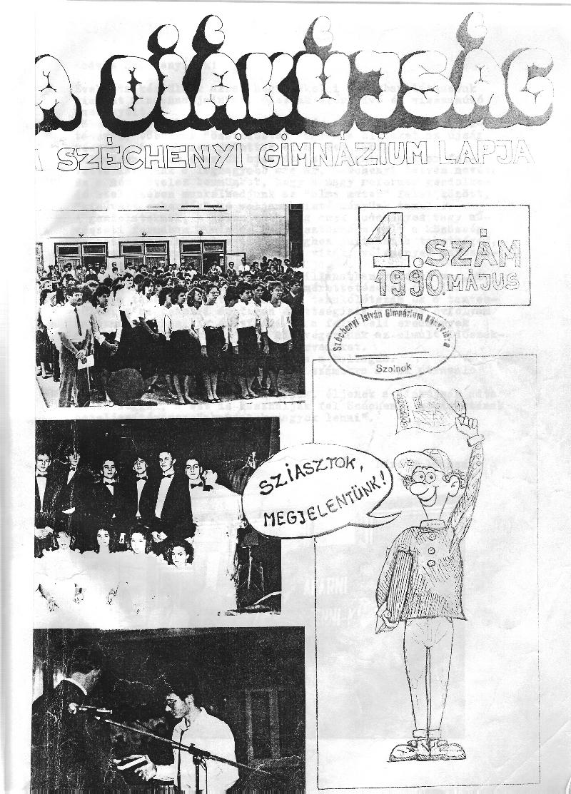 Diákújság címlapja
