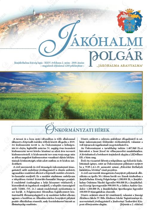 Jákóhalmi polgár címlapja