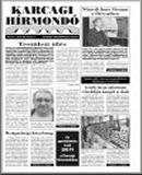 Karcagi hírmondó címlapja