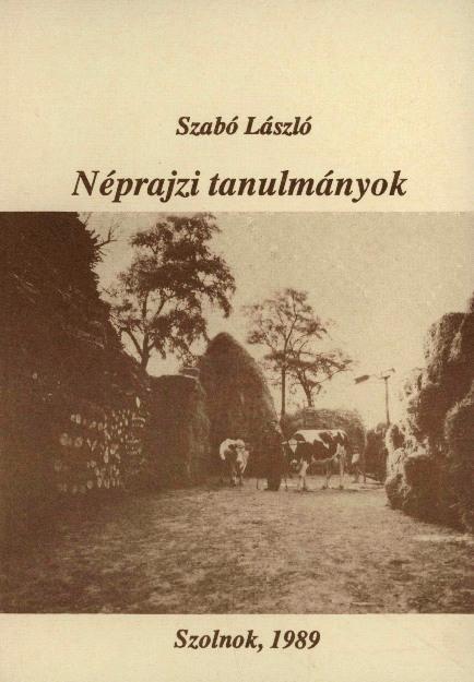 Néprajzi tanulmányok 1989 borítója