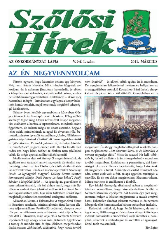 Szőlősi hírek címlapja