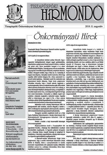 Tiszapüspöki Hírmondó
