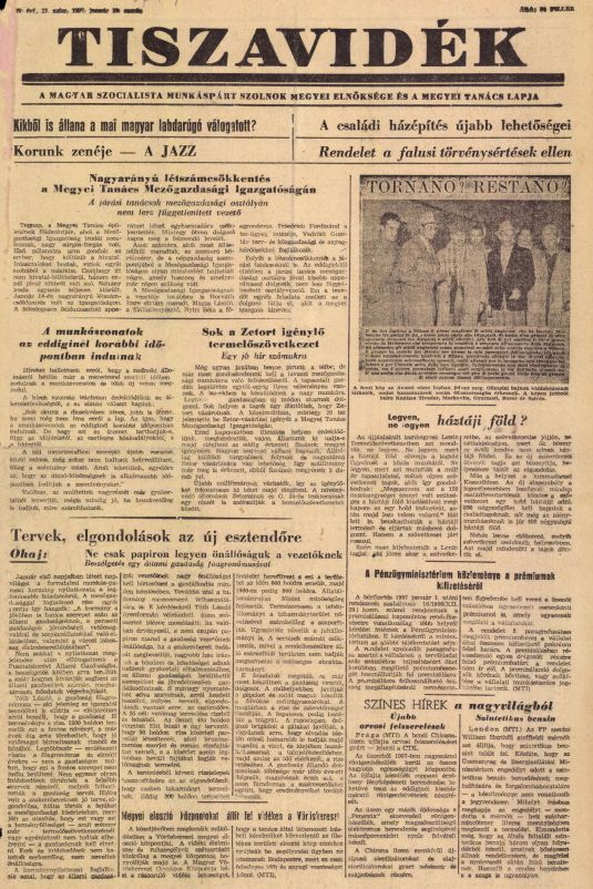 Tiszavidék 1957